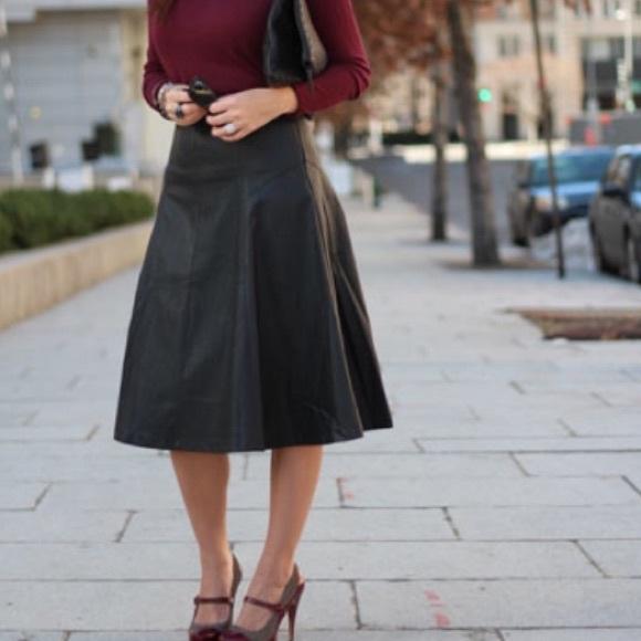 pleather midi skirt dress
