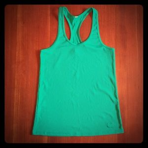 Under Armour Tops - Under Armour Kelly Green Ribbed Racerback Tank