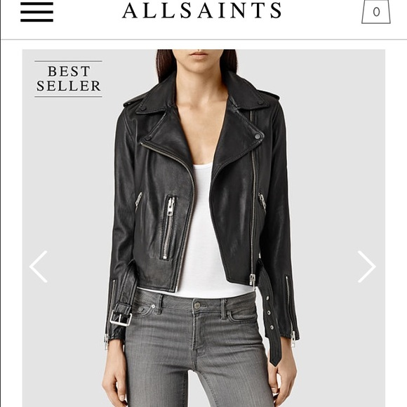 official sale latest pretty and colorful All saints Balfern Leather Jacket Size 10 NWT