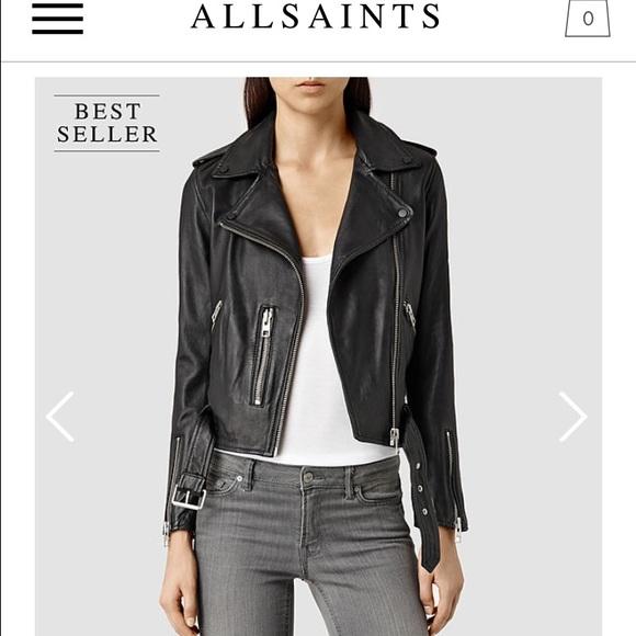 f649f2c5a All saints Balfern Leather Jacket Size 10 NWT