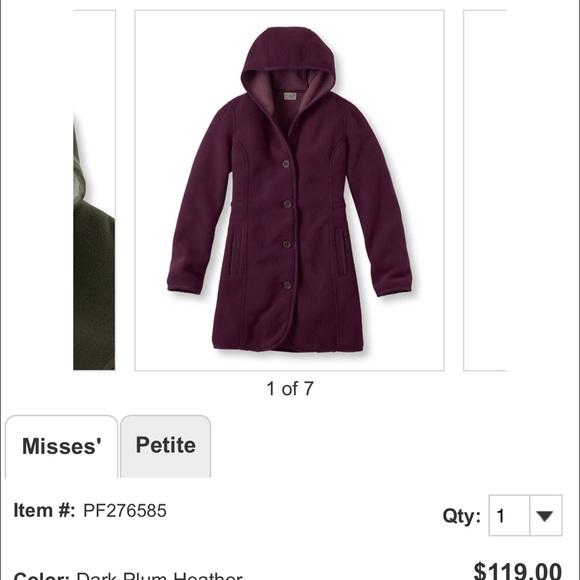 62% off L.L. Bean Jackets & Blazers - UNOPENED LL Bean fleece ...