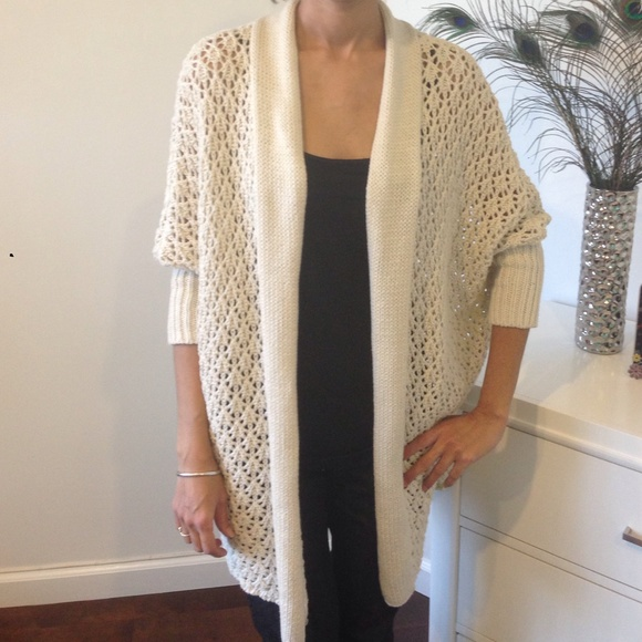 2ba4df9aabf92 Lucky Brand Crochet Sweater Cardigan