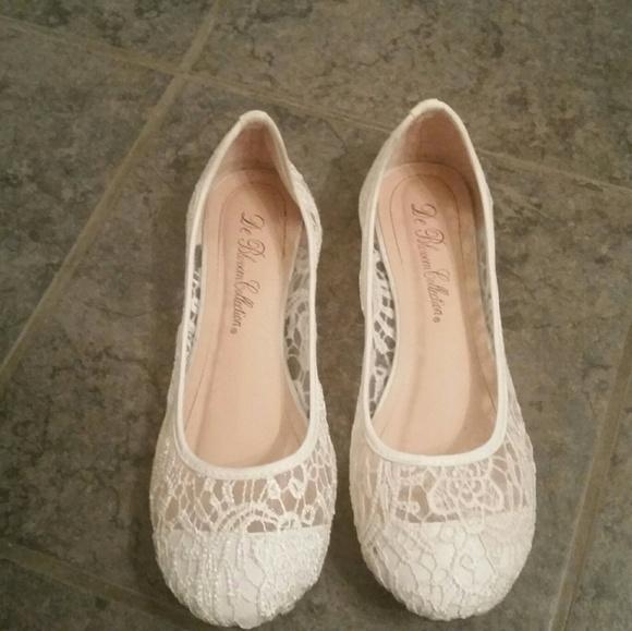 Davids Bridal Shoes Crochet Ballet Flats Poshmark