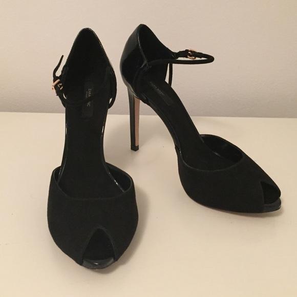 Peep Toe Heels With Ankle Strap   Poshmark