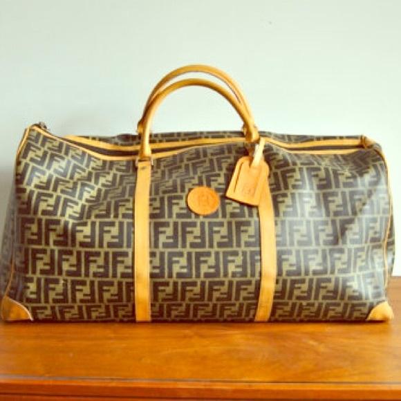 5e7a15bc4ef FENDI Bags   Authentic Vintage Zucca Duffle Bag   Poshmark