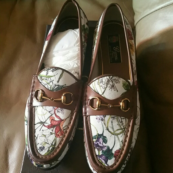 99302cf32 Gucci Shoes | Brand New Floral Loafers Size 95 | Poshmark