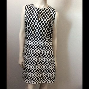 DVF Diane Von Furstenberg Black/White Yvette Dress