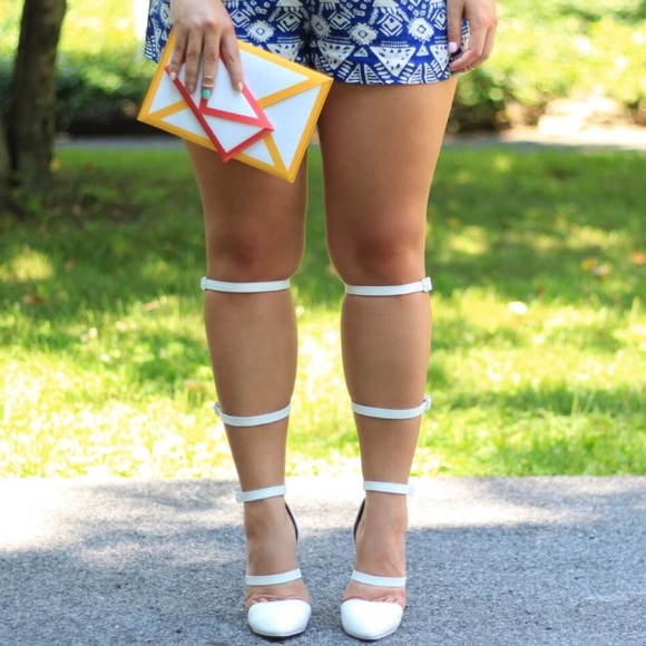 21e22460da88 ASOS Shoes - White gladiator heels from ASOS