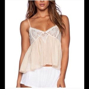 FREE PEOPLE SWET LACE CAMI