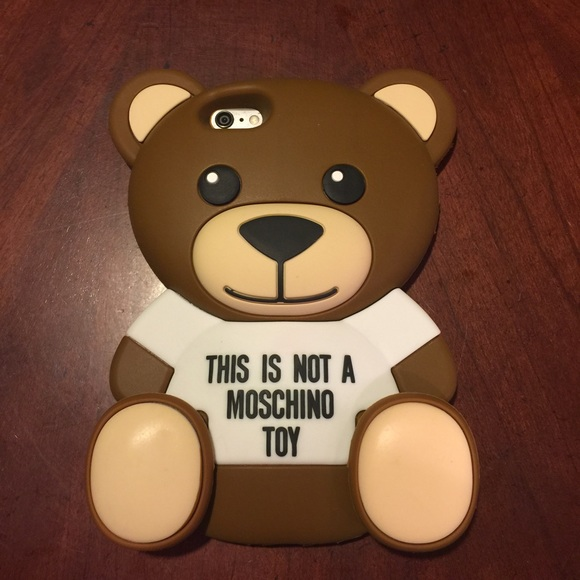 size 40 2b6d6 1e754 Sale! Moschino Bear iPhone 6 Plus Case