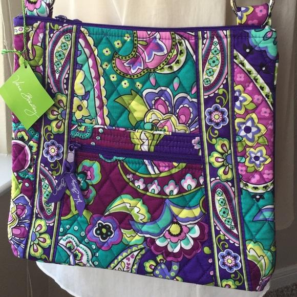9a0def3f16 Vera Bradley Hipster Crossbody Bag Heather NWT