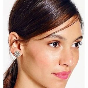 Kate Spade Bourgeois Silver Stud Xmas Earrings