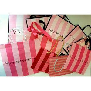10 Victoria's Secret shopping bags