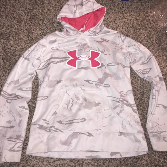 ad3492699e75f Under Armour Jackets & Coats | Ladies White Camo Ua Hoodie | Poshmark