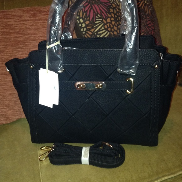 Isabelle Bags Final Price Black Satchel With Long Strap Poshmark