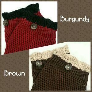 Autumn Boot Cuffs Crochet Trim & Button HP!🎉