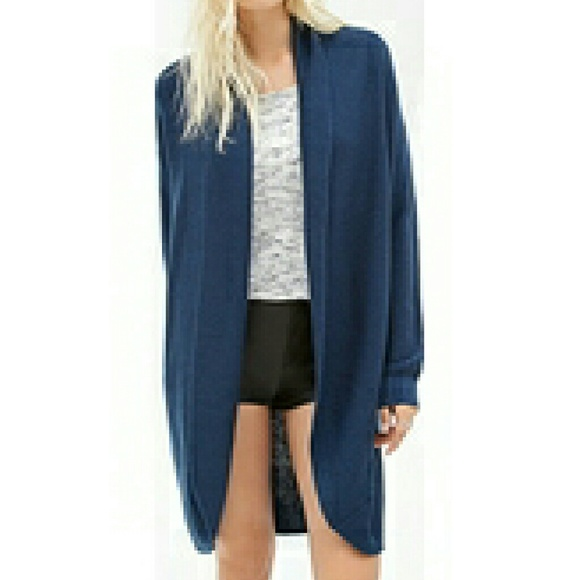 Forever 21 - Navy Blue Long Cardigan from Manne's closet on Poshmark