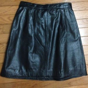 Coldwater Creek Dresses & Skirts - Mini Leather Coldwater Creek Skirt 6 blk