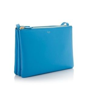 Celine Handbags - Celine Lambskin Large Trio Crossbody Bag