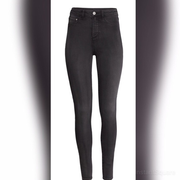48% off H&ampM Pants - H&ampM super skinny high waist faded black jeans