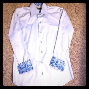Stone Rose Other - Men's modern, fitted, French cuff dress shirt
