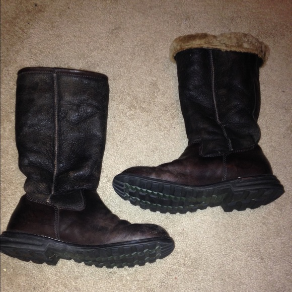 Dark Brown Classic Leather Ugg Boots