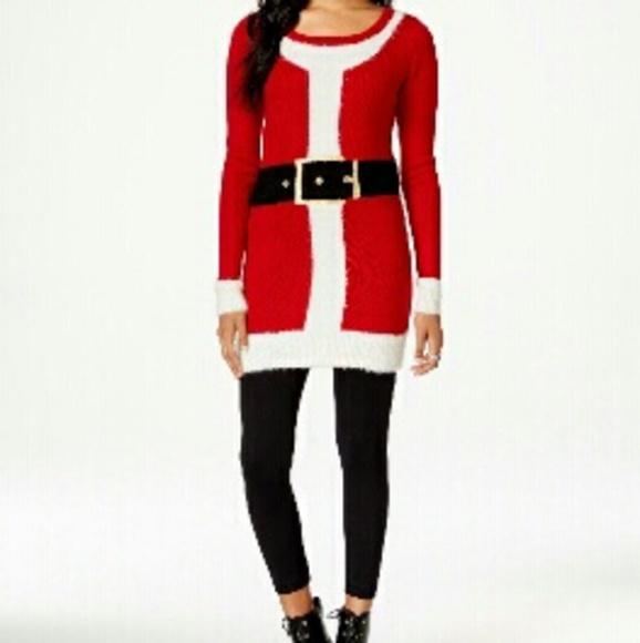 5e4d8005c7fdd Hooked Up Dresses   Ships Today Santa Sweater Dress   Poshmark