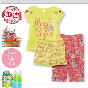 🆕😍 Toddler Girl's Pajama Shirt Pants & Shorts