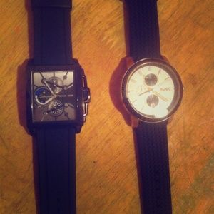 Two Men's Watches. Michael Kors and Guess.