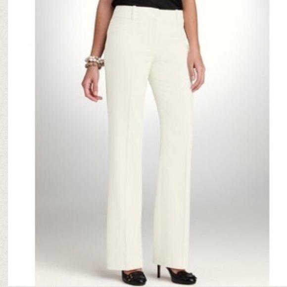 80 Off Ann Taylor Pants 🔴ann Taylor White Flare Dress