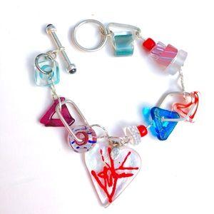 Jewelry - Handcrafted glass bead bracelet