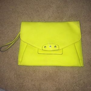 Neon yellow clutch