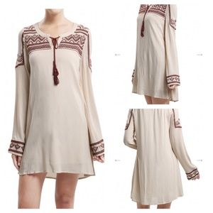 Blu Pepper Long Sleeve Natural Dress
