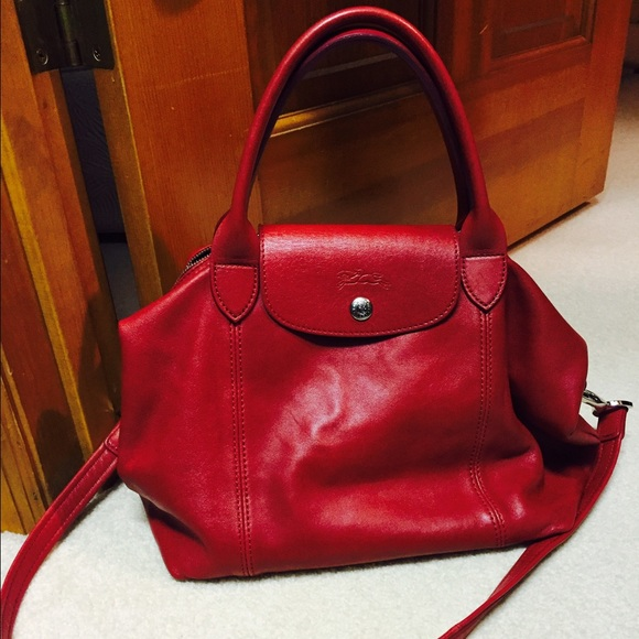 df5866e075e4 Longchamp Handbags - Longchamp Le Pliage Cuir Small