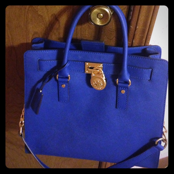 Michael Kors Handbags - Authentic royal blue Michael Kors Hamilton Large.