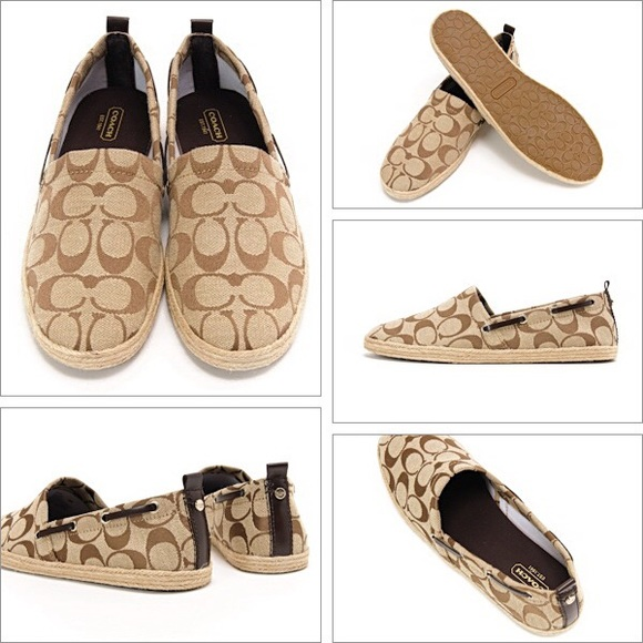Coach Canvas Espadrille Flats