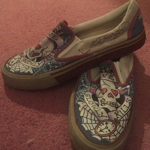 9fd3351a70 Vans Shoes - Ed hardy slip on shoes PRICE DROP