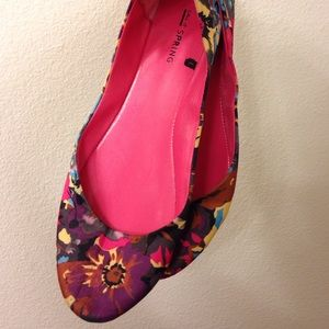Call It Spring Shoes - Floral print ballet flats