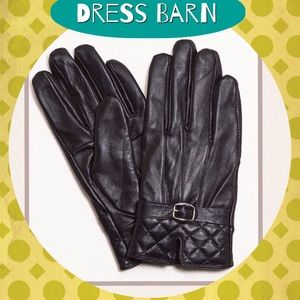 Dress Barn Accessories - 🆕Quilted Leather Gloves