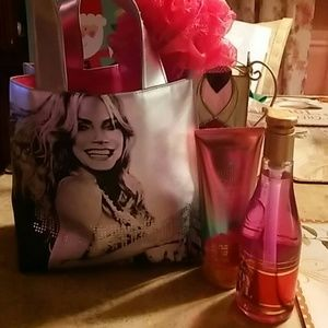 Victoria Secret mini tote and lotion and hand soap