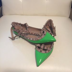 Valentino Shoes - AUTHENTIC Valentino Rockstud caged t-strap flats
