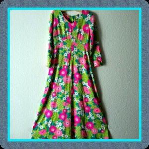 Vintage Dresses & Skirts - Vtg. Flower Power Maxi Dress