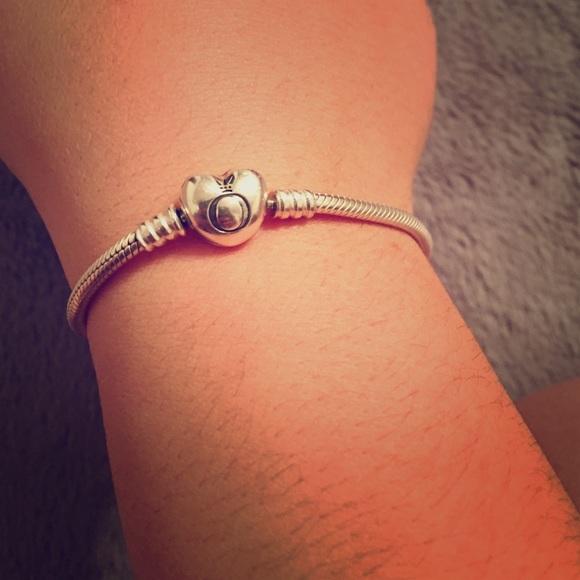 Pandora Jewelry Pandora Heart Clasp Charm Bracelet Size 2cm 79 Poshmark