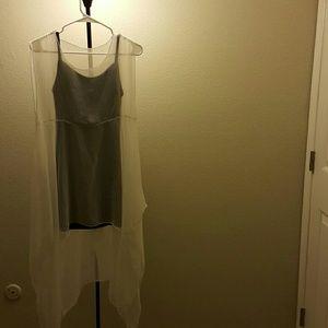 Black top and white dress set