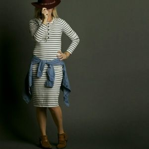 Dresses & Skirts - Longsleeve striped dress -XL