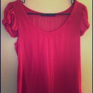 Bright pink Zara blouse
