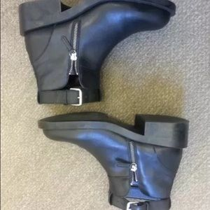 Zara cute out boots with ankle strap size 10