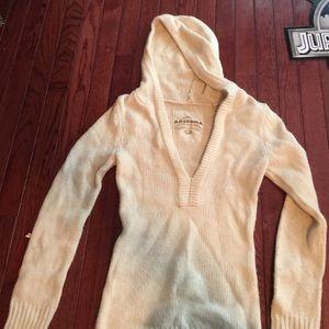 Arizona Jean Company Sweaters - Arizona cream hooded V-Neck sweater