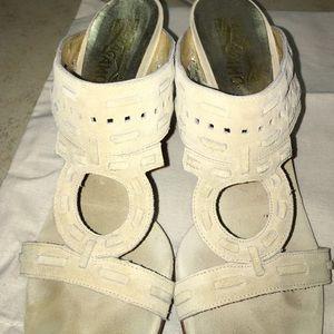 Ferragamo Shoes - Salvatore Ferragamo suede heel sandal