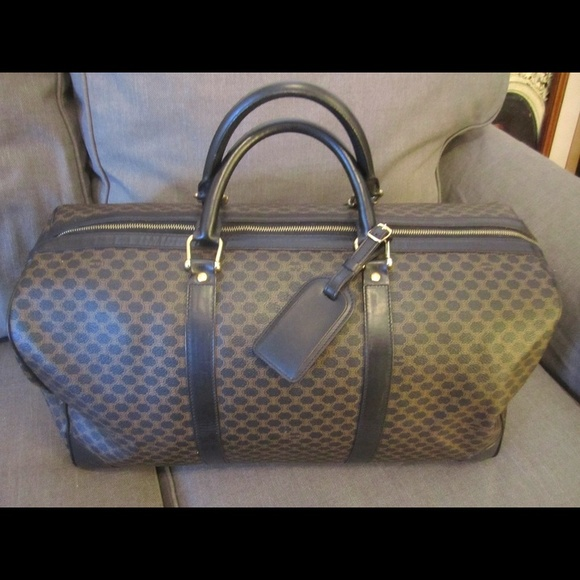 fe7685682b61 Celine Handbags - Authentic Celine Black Macadam Travel Duffle